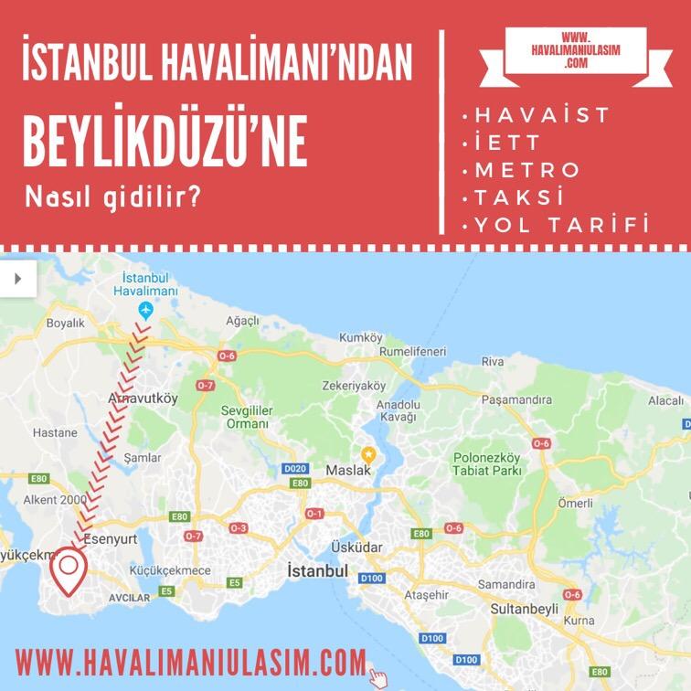 istanbul havalimanından beylikdüzüne ulaşım