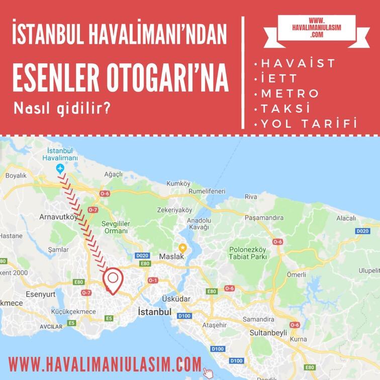 istanbul havalimanından esenler otogarına ulaşım
