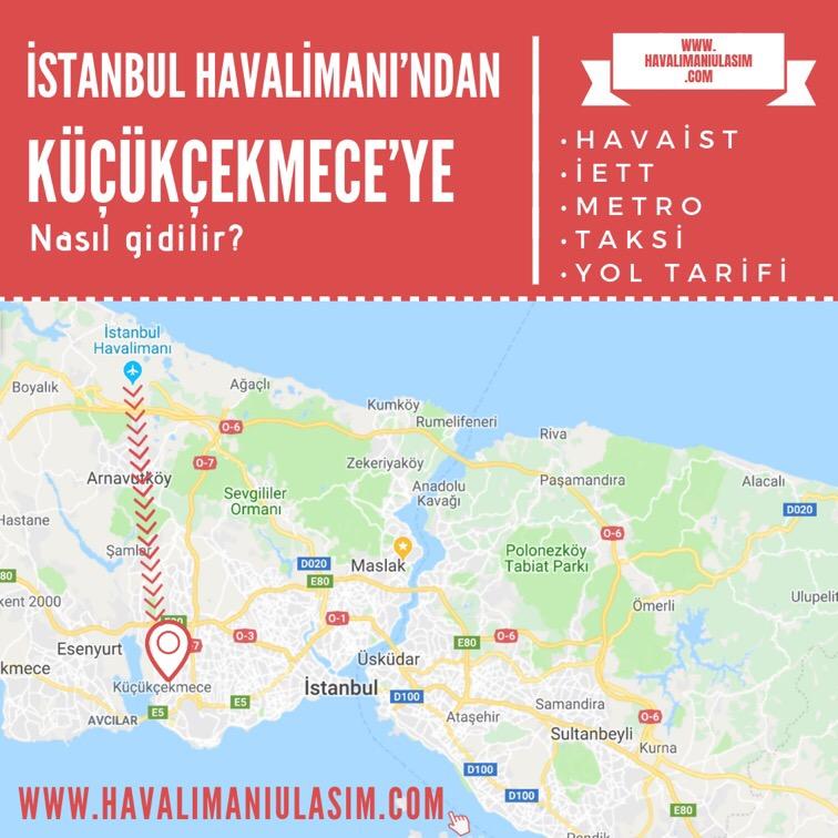 istanbul havalimanından küçükçekmeceye nasıl gidilir