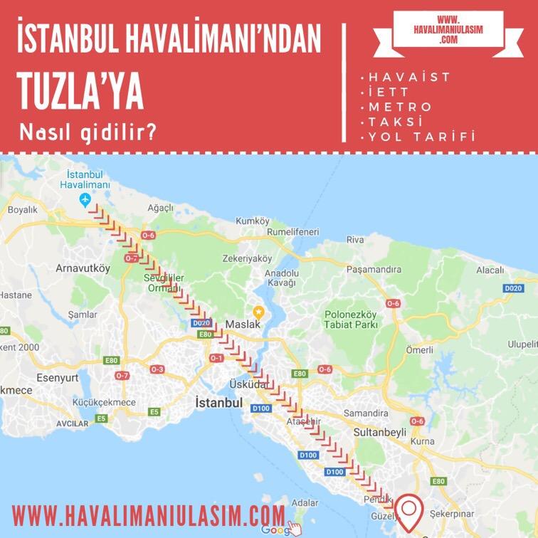 istanbul havalimanından tuzlaya ulaşım