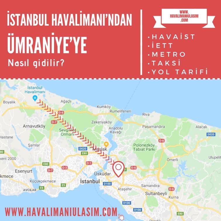 istanbul havalimanından ümraniyeye ulaşım