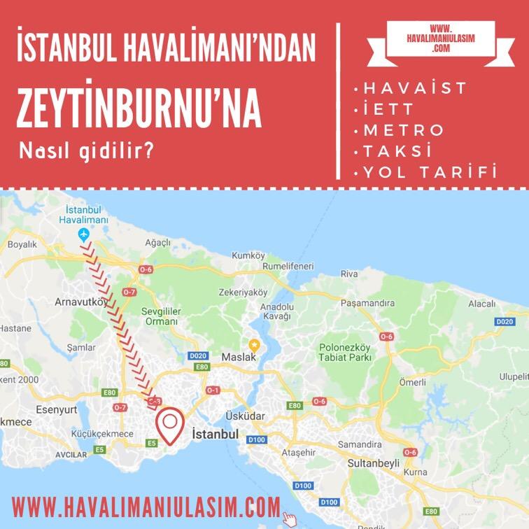 istanbul havalimanından zeytinburnuna ulaşım